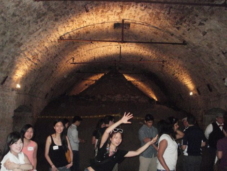 Inside beer tunnels on American Legacy Underground Cincinnati Tour