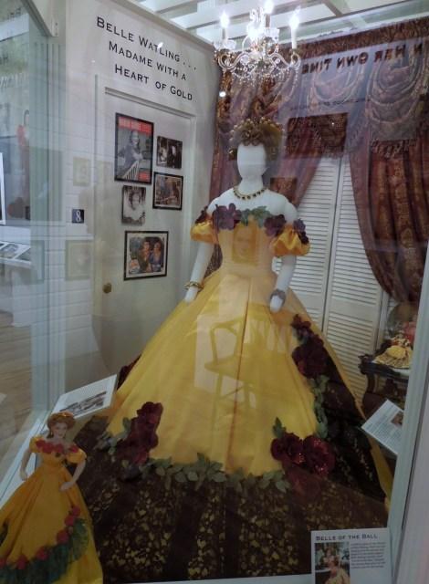 Belle Watling's dress. Belle is a brothel madam.