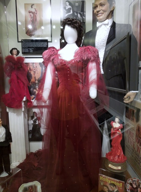 The red dress Rhett forces Scarlett to wear to Ashley's party.