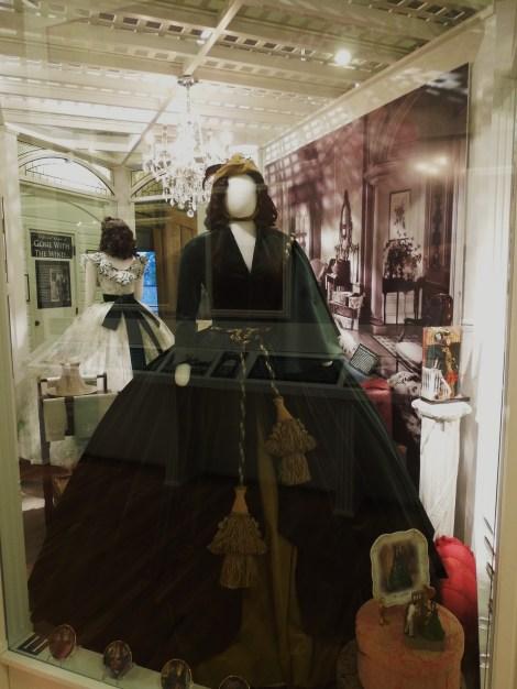 The dress Scarlett makes from their velvet drapes.