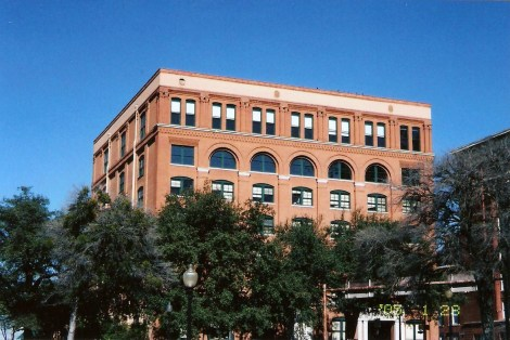 The former Book Depository, which houses the 6th Floor Museum