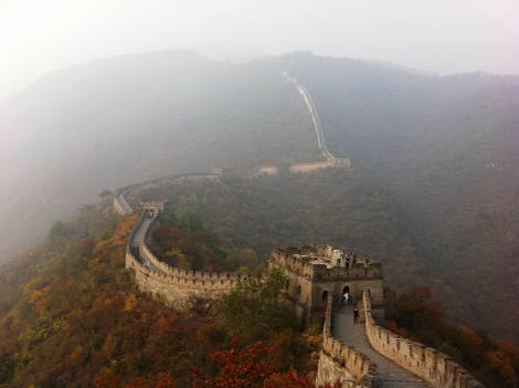 Mutianyu section of Great Wall of China-less-crowded-steep