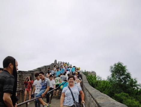 Badaling section of Great Wall of China crowd