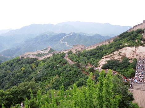 Badaling section of Great Wall of China crowds tour