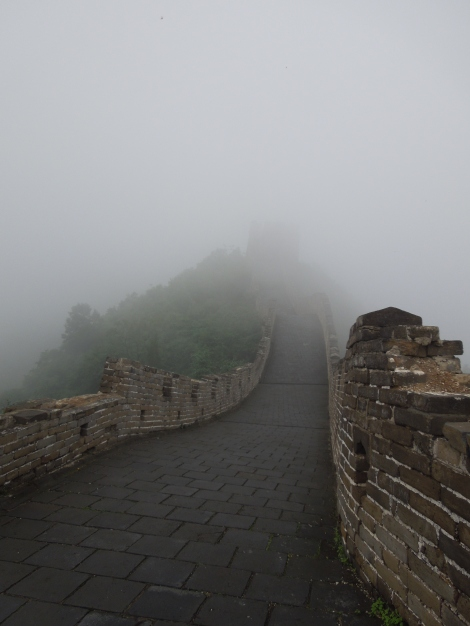 Badaling section of Great Wall of China Mutianyu fog