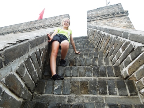 Steep stairs at Mutianyu section of Great Wall China tour