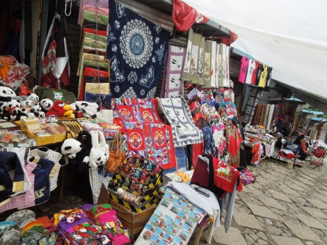 Souvenir stands at the Great Wall of China Badaling Mutianyu items for sale booths