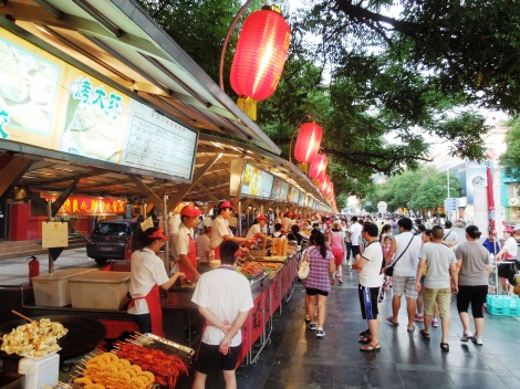 Food stalls at Wangfujing Snack Street-where-to-eat-beijing-china-street-food