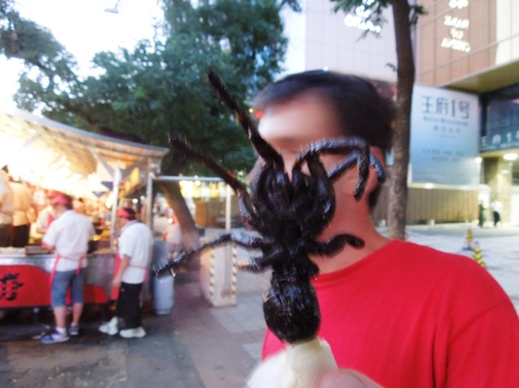 Food stalls at Wangfujing Snack Street-where-to-eat-beijing-china-street-food-tarantula-insects-scorpions