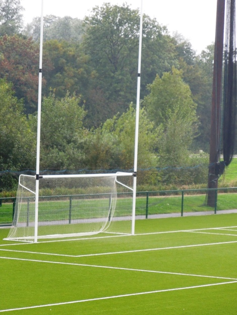I recognized this from TV-- a hurling goal post