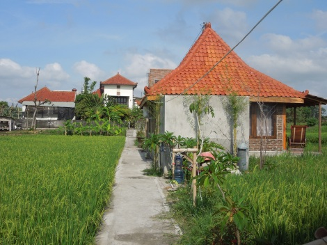 My Joglo, with the Alamanda guest house in the background.