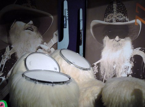 ZZ Top's furry drums