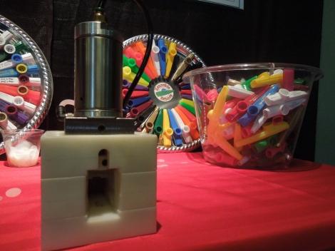 The resonator machine, small circle resins, and kazoos.