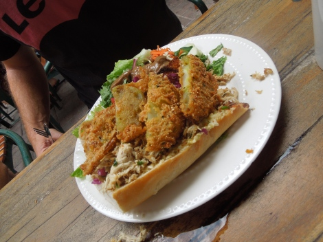 The FGT Hoagie. Look at those fried green tomatoes!