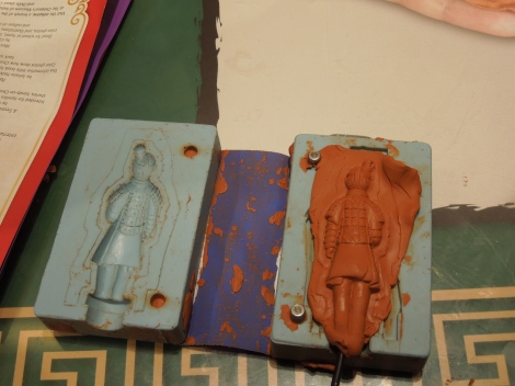 Mold your own terracotta warrior.