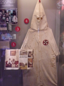 The infamous KKK white-hooded robe