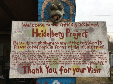 What is the Heidelberg Project? Detroit sign