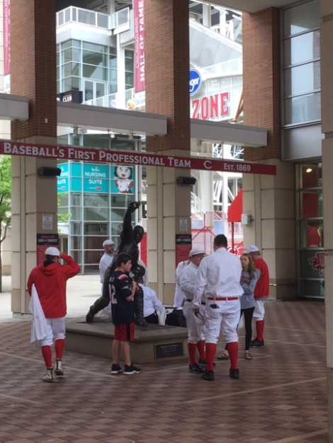 Reds-Great-American-Ballpark--baseball-players-vintage-celebrating-150th-anniversary-Cincinnati