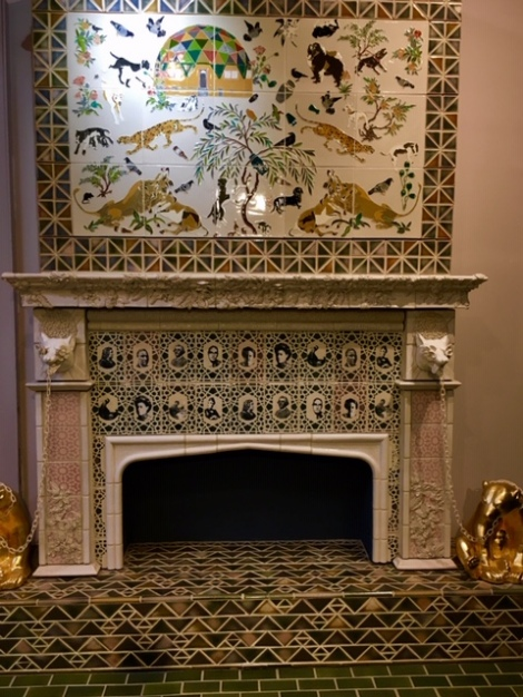 ornate Rookwood fireplace