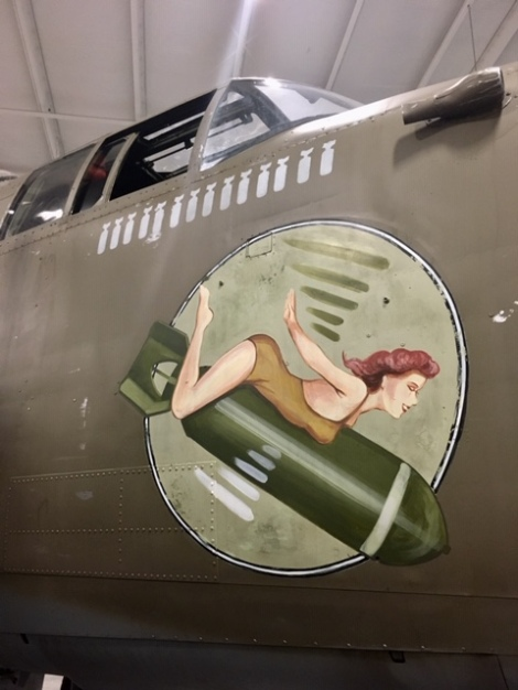 bomber plane, pin-up girl