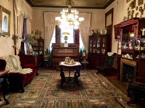 Parlor sitting room in Copper King Mansion B&B-Butte-antiques