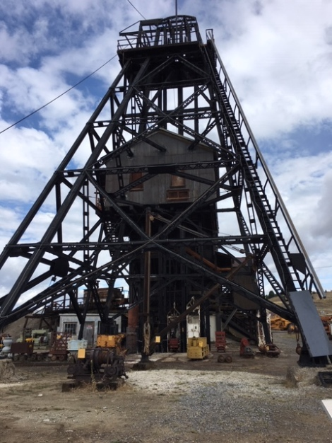 Headframe at the Orphan Girl Mine Butte