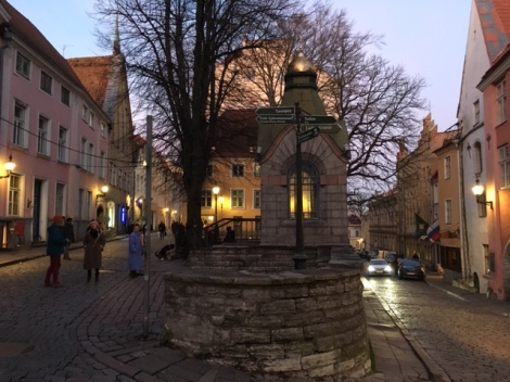 Walled medieval old town of Tallinn