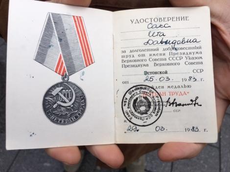 Soviet Medal Commendation Communism
