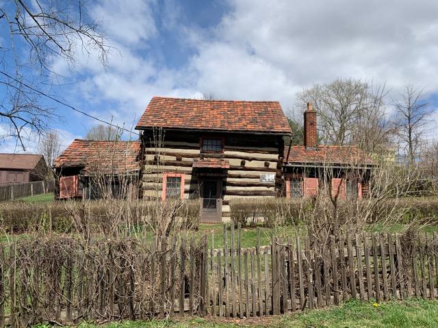 Bimeler log cabin Zoar Pretzelfest